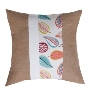 Jute and Cotton Canvas and Faux Canvas Cushion