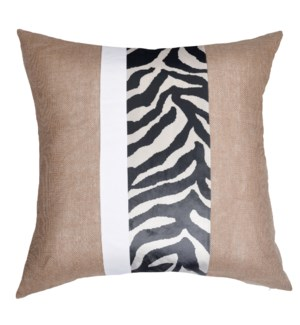 Jute and Cotton Canvas and Specified Fabric Cushion