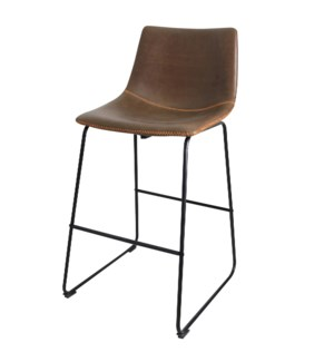 Countour Bar Stool   29in Seat Height   22in X 39in X 20in Distinctive Black Powder Coat Iron Sled B