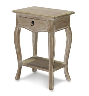 COUNTRY FRENCH DRAWER SIDE TABLE