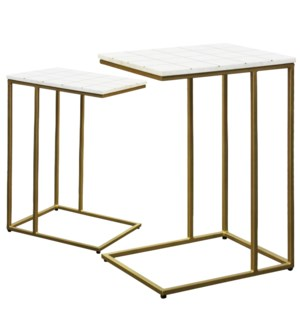 CARTER TABLE SET | Large 18in w. X 26in ht. X 14in d. | Small 16in w. X 22in ht. X 12in d. | Set of