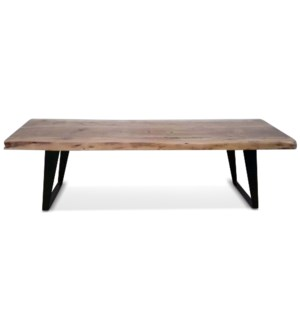 LEO LIVE EDGE BENCH | 60in w. X 18in ht. X 17in d. | Live Edge Bench Made from Solid Acacia Wood in