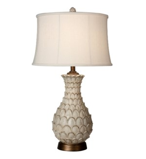 Jane Seymour -Westlake Table Lamp with Round Self Fabric Trimmed Shade