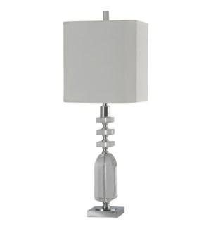 Crystal & Chrome | Jane Seymour Branded Table Lamp