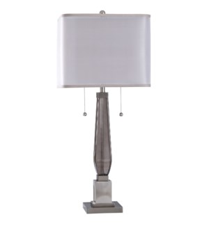 Ottery | 37in Jane Seymour Branded Metal & Glass Table Lamp | 60 Watts X 2 | Twin Pull On-Off Swtche