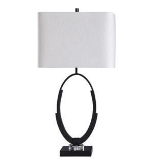 Norton | 33in Jane Seymour Branded Crystal Glass and Metal Table Lamp | 150 Watts | 3-Way