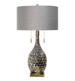 Lydney | 27in Jane Seymour Branded Metal & Glass Table lamp | 100 Watts | 3-Way