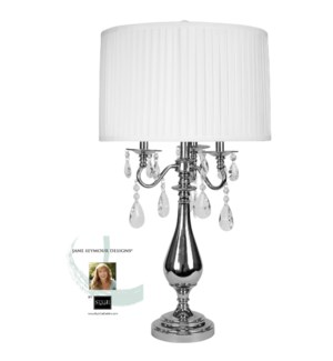 Jane Seymour - Bring Classic Elegance Into Your Home With This Shiny Steel Table Lamp With Stunning