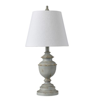 BASILICA SKY | Classic Traditional Accent Table Lamp | Made in Cambodia | 12in w X 25in ht X 12in d
