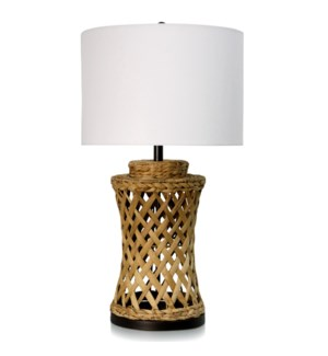 Water Hyacinth Table lamp with E26 lamp holder