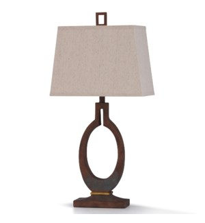 BRAUNSTONE TABLE LAMP | 34in ht. | William Mangum Collection Painted Patina Stone Like Table Lamp |