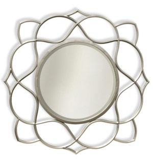 Saber Silver | Transitional | Metal Wall Mirror