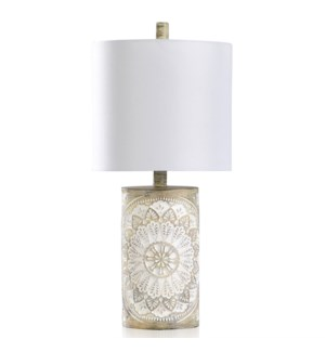 10 Carved Poly Table Lamp