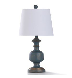MALTA SKY TABLE LAMP | 23in ht. | Traditional Painted Copper Accent Body Table Lamp | 60 Watts