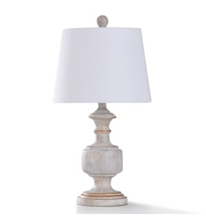 MALTA CREAM TABLE LAMP | 23in ht. | Traditional Painted Copper Accent Body Table Lamp | 60 Watts