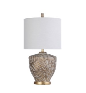 BAFFO GOLD | 15in w X 28in ht X 15in d |  Traditional Jar Shaped Moulded Table Lamp | 150 watts