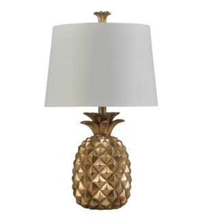 Gold | Traditional Coastal Table Lamp | 100W | 3-Way | Hardback Shade