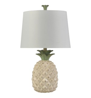 Dole Cream | Traditional Coastal Table Lamp | 100W | 3-Way | Hardback Shade