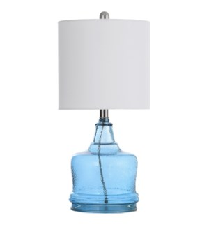 Cerulean | Glass Body Transitional Table Lamp | 60 Watts | On-Off