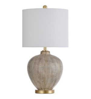 BAFFO GOLD TABLE LAMP | 29in ht. | Painted Traditional Hand Carved and Moulded Body Table Lamp | 150