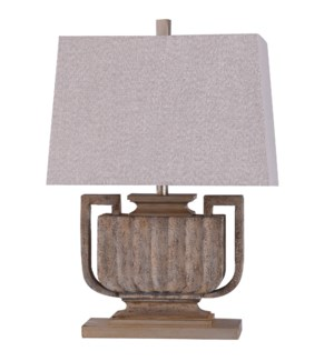 Wembley Stone | 28in Colonial Traditional Table Lamp | 60 Watts | On-Off Switch