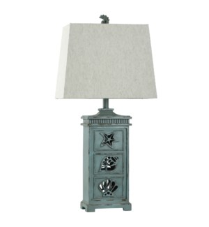 River Crest | Coastal Table Lamp with Night Light