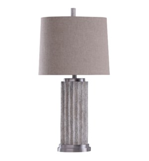 Esme | Rugged Washed Faux Stone and Metal Transitional Table Lamp | 100 Watts | 3-Way