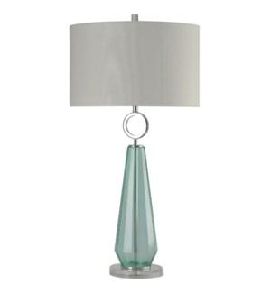 Cosala | Transitional Sea Glass Clear Acrylic & Metal Table Lamp