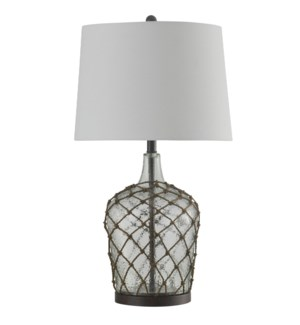 Cayos Clear | Meshed Glass Traditional Table Lamp