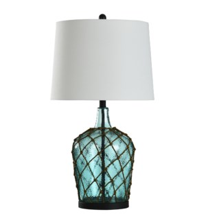 Cayos Blue | Meshed Glass Traditional Table Lamp