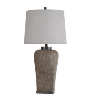 Ramsey Stone | 35in Stone Effect Table Lamp with a Square Base | 150W | 3-Way
