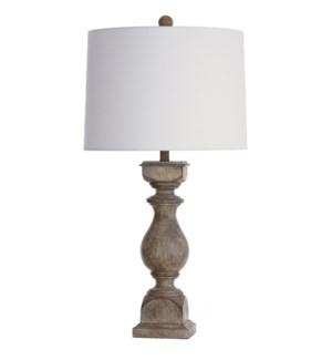 Grayson Gray | Traditional Table Lamp | 150W | 3-Way | Hardback Shade