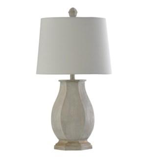 Basilica Sky | Traditional Table Lamp | 100W | 3-Way | Hardback Shade