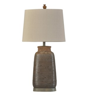 Armond Brown | Traditional | Ceramic Table Lamp | 100W | 3-Way | Hardback Shade