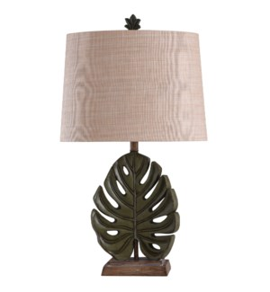 Islama Dora | Leaf Motif Sculpted Body Table Lamp | 100 Watts | 3-Way | See WI42741 for Complimentin