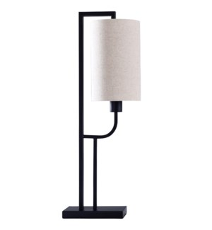 Oil Rubbed Bronze | Contempoary Structured Metal Body Table Lamp | 40 Watts | On-Off Switch