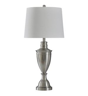 Brushed Steel | Transitional Table Lamp | Metal | 150 Watts | 3-Way