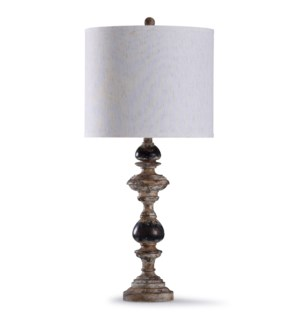 Bishop Cream | 32in Weathered Finish Traditional Table Lamp | 150W | 3-Way