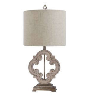 Tuscany Cream | 30in Traditional Cast Table Lamp | 150 Watts | 3-Way