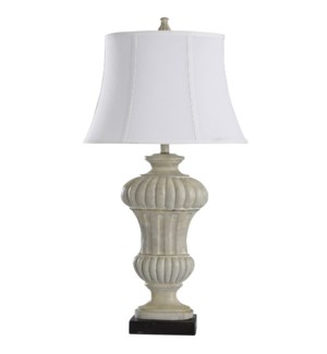 Sauga Cream | 35in Traditional Cast Table Lamp | 100 Watts | 3-Way