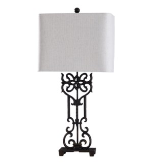 Saugus Bronze | 33in Cast Iron Traditional Table Lamp | 100 Watts | 3-Way
