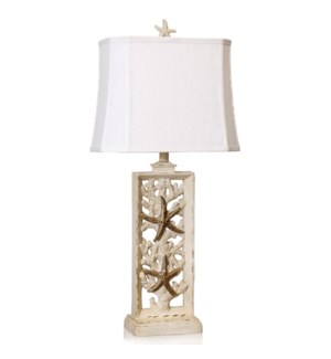 South Cove   33in Coastal Cast Table Lamp   100 Watts   3-Way
