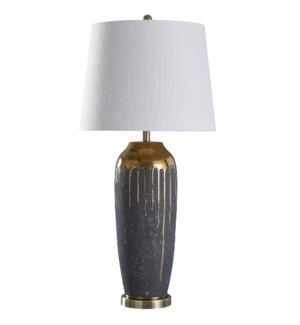 Marloe Gold | 37in Ceramic Base Table Lamp | 150 Watts | 3-Way