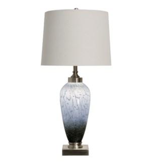 Ezra Table Lamp | 35In Art Glass Body With Inner Led Night Light | 150 Watts | 4-Way