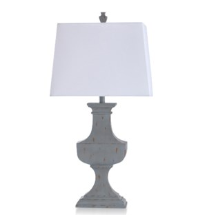 BASILICA SKY | Traditional Colonial Style Table Lamp | 17in w X 34in ht X 10in d | 100 Watts