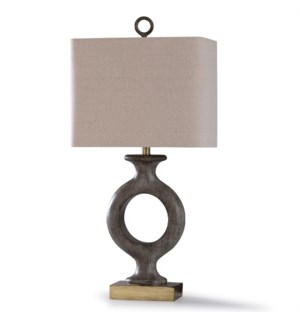 SHILDON GOLD | 33in X 16in | Shildon Gold | Traditional Carved Resin Table Lamp with Steel Base