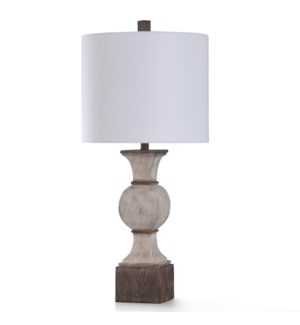 KIRKBY TABLE LAMP | 31in ht. | Traditional Baluster Style Painted Base Table Lamp | 150 Watts