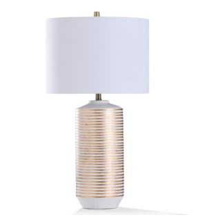 CONTINI GOLD TABLE LAMP | 32in ht. | Ceramic Body Thread Spool Design Table Lamp  | 150 Watts