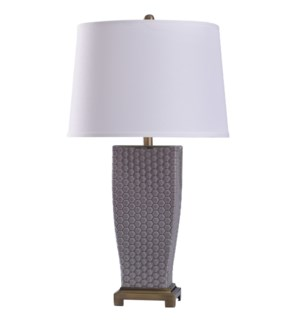Stone Spray | 29in Elegant Dimpled Glass Body & Metal Base Table Lamp | 150 Watts | 3-Way