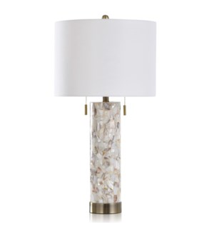 SHELL/STEEL TABLE LAMP